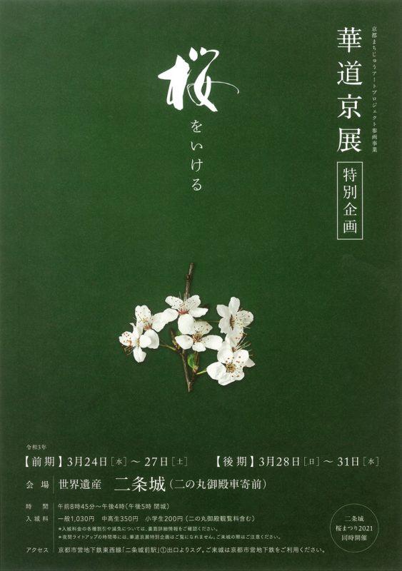 華道京展「特別企画」桜をいける パンフレット